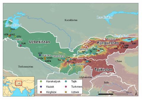 Diversité génétique et linguistiques des populations d'Asie Centrale